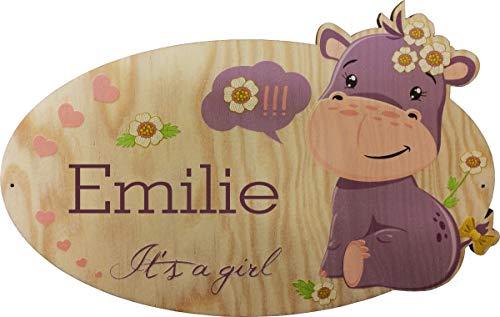 Targa in legno bambino o bambina personalizzabile - con la possibilità di scrivere il vostro nome - nome in legno da appendere - targhette per porte - regalo di battesimo, regalo di natale