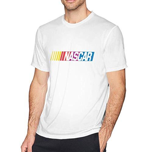 Star Trek-jugend-t-shirt (Mens Shirt NASCAR T-Shirt Casual Baumwolle Tee Shirts Kurzarm Tee Shirts für Herren Jugend Jungen/Teen Jungen T-Shirt Weiß M)