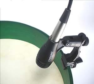 NEW Bodhrán Microphone & Kit de collier de serrage également pour caisse claire ou tambour à main