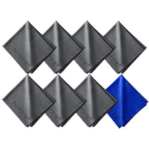 8 X Mikrofasertücher - 20x18 cm Mikrofaser Brillenputztuch. Kamera Objektiv Microfaser Reinigungstücher. LCD, LED TV Bildschirm Microfasertuch Reinigung. Laptop pc Display Reiniger Tuch