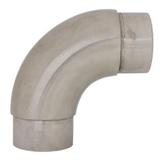 Edelstahl Rundbogen 90° Grad - für z.B. Geländer Rohr 42,4 x 2,0 mm (S014208)