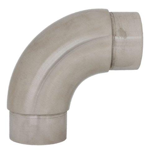 Edelstahldiscounter S014208 - Codo cilíndrico (acero inoxidable, 90°, por ejemplo para tubos...