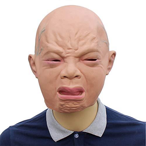 Kostüm Eve Hallows - Aishankra Neuheit Latex Schrei Baby Gesicht Voll Kopf Maske Halloween Party Kostüm Dekorationen Requisiten Für Männer Frauen Und Kinder