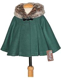 Ricittos - Capa Abrigo con Mangas de niña en Color Verde