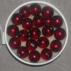 efco Glas Wachs Glanz Perlen, dunkel rot, 8mm, 20Stück