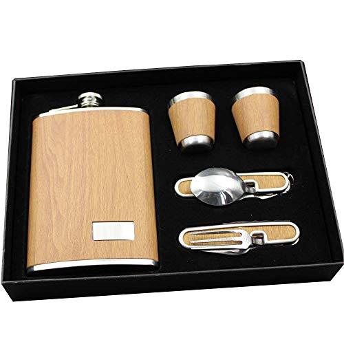 Mzl 9 oz Kanne tragbaren Flasche Pu Messer und Gabel Geschenkbox (Zwei Boxed) Boxed Gabel