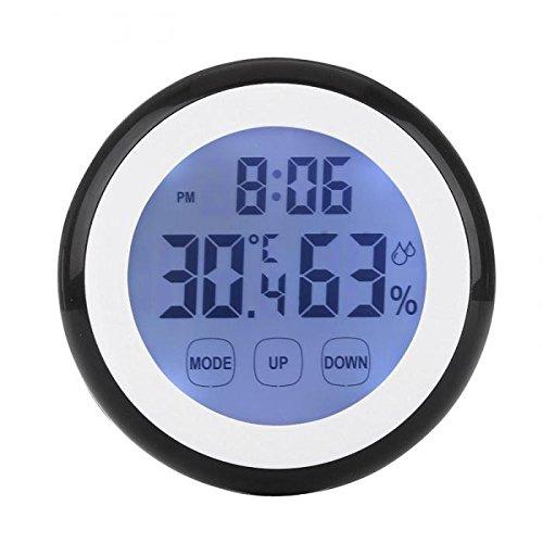 KUNSE Pantalla Táctil Termómetro Humedad Minitor Higrómetro Sensor con Despertador