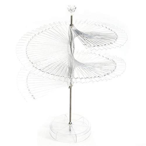 Heaviesk Show-Regal 120-Farben-Neuheit Faltbare Pro Spirale Fächerförmige Spitzen Stock...