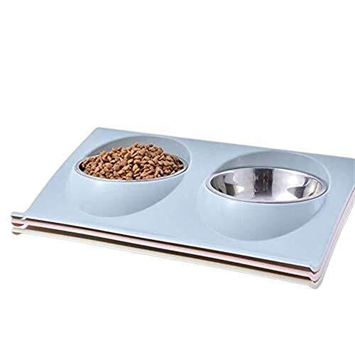 Zun Gu Xuan Automatische Futtertröge Doppel-Hundenäpfe for Welpen Edelstahl Futter Wasser Nicht Verschütten Futtertröge Katzen Futtertröge Hunde Futtertröge Pet Feeder