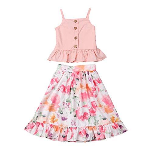 Damen Sommer Kurz Rock Pwtchenty Kleinkind Kids Baby MäDchen Rüschen Mädchenanzug Blumenkleid Prinzessin Jumpsuit Kleid