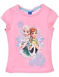 b2a78b9f8 Camiseta Frozen Disney para niñas manga corta 100% algodón color Rosa ...