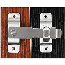 Cerradura de puerta resistente de acero inoxidable con pestillo abatible Con tornillos de fijación,superficie