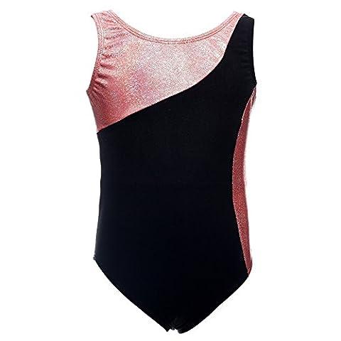 Brightup Kinder Mädchen Einteiler Tanz tragen Gymnastik Athletic Sommer Frühling Bodysuit (Hübscher Tanz Kostüme Für Mädchen)
