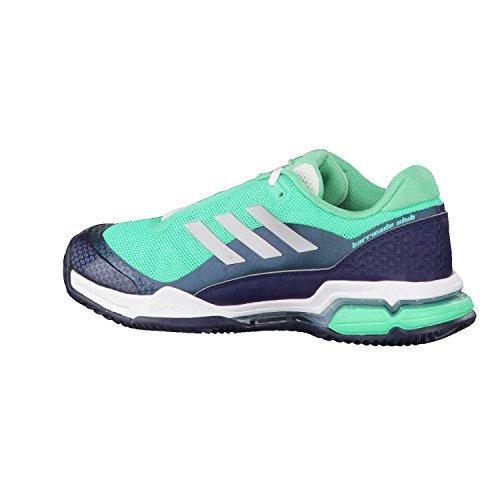 adidas Barricade Club, Chaussures de Tennis Homme vert vif/argent mat/bleu marine