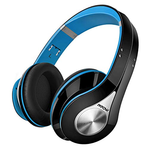 Mpow 059 Auriculares Diadema Bluetooth Inalambricos, Cascos Bluetooth Inalambricos Plegable con Micrófono, 20hrs Reproducción de Música, Hi-Fi Sonido Estéreo para TV, PC, Móviles, Azul