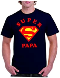 Camisetas divertidas Parent Super Papa - para Hombre Camiseta
