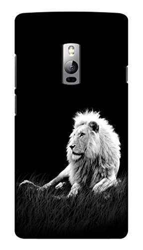 Blutec White Lion Design 3D Printed Hard Back Case Cover for OnePlus 2