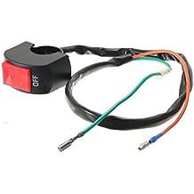 """Interruptor de motocicleta - TOOGOO(R)interruptor encendido y apagado de DC12V de luz de punto de linterna de niebla de manillar de motocicleta de 7/8"""" de color negro + rojo"""