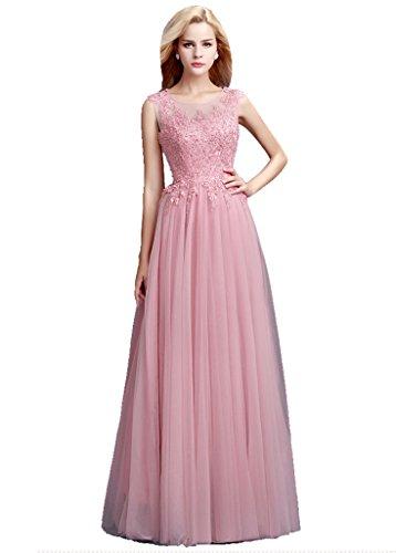 Beauty-Emily Maxi A-Linie Band Ohne Arm langen Transparent Zurück-Abend-Kleid Violett