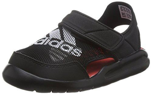 adidas, Jungen Zehentrenner , schwarz - schwarz - Größe: 33