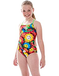 Chica Zoggs neón Web Bella Bañador para - Multi-color, 76,2 cm/10 - 11 años