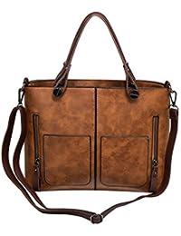 Yuan Brown High Quality Women Elegant Female Bag New Double Pocket Design Oblique Messenger Square Shoulder Bag...