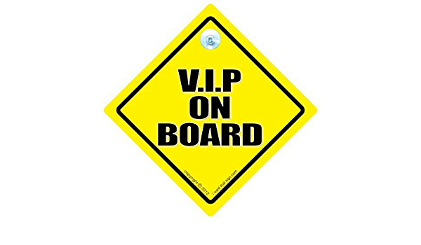 On Board Vip Vip Very Important Person Vip On Board V I P On Board Grandparents Vinyl Stickers Sticker Car Sign Road Sign Retirement Sign Baby On Board Car Sticker Auto
