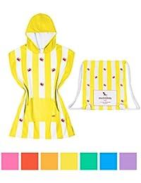 Dock & Bay Poncho de toalla para niños con capucha y bolsa de playa (Simbolo