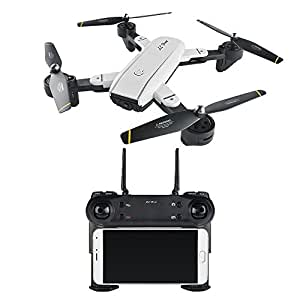 """RC Drone,Rabing Foldable FPV RC Quadcopter With HD Wifi Dual Camera 4CH 6-Axis Gyro Image Following """"V"""" Gesture Selfie Drone"""