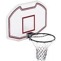 Genérico Full tamaño pared montado en la pared etball Ba Basketball tablero de fondo de la red de arco de alta resistencia