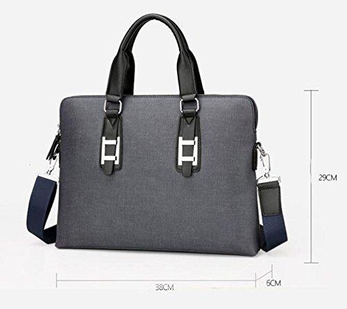 Männer Handtaschen-Geschäfts-Beutel-Schulter-Rock-Aktenkoffer-Computer-Beutel Großes Kapazitäts-Satz Black1