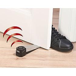 easymaxx Security Türstopp-Alarm 3 V Doppelpack ( Extra lauter Alarmton 100db), 1 Stück, schwarz, 07618