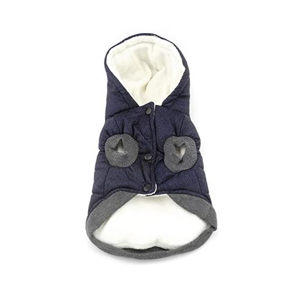 SELMAI Hooded Dog Coat Stylish Small Puppy Dog Clothes(This style run small,pls choose one size larger) 4