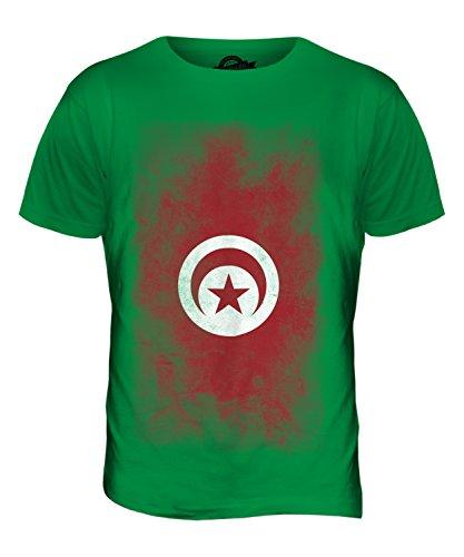 CandyMix Tunesien Verblichen Flagge Herren T Shirt Grün