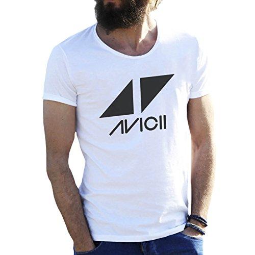 Friendly Bees Avicii Tim Berg Electronic Music Star Ibiza Logo Blanca Camiseta para Hombre Small