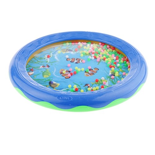 Magideal Blue Ocean Wave Bead Drum Sea Wonders Musical Educational Toys for Children  available at amazon for Rs.425