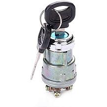 Interruptor de Arranque de Encendido del Coche 12V 4 posición Universal del Barco con 2 Llaves