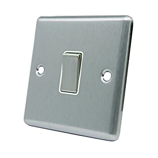A5 CSC1GSWIWS 10 A 1-Gang 2-Way Satin Finish Chrome Classical Single White Insert Metal Rocker Light Switch