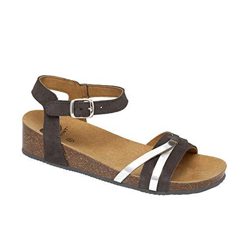 Scholl Sandalen mit Riemen Kelly Grigio 39 (Auf Sandalen Die Lust Mädchen,)