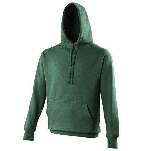 Street hoodie AWDis Hoods Streetwear Felpa Cappuccio Uomo Bottle Green