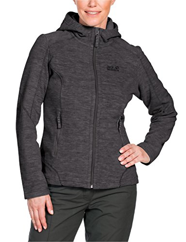 Jack Wolfskin Damen Fleece Jacke Carson II Jacket, Grau (Dark Steel), S, 1702971-6032002