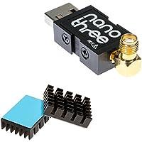 NooElec NESDR Nano 3 - Premium Tiny RTL-SDR avec Boîtier en Aluminium, 0.5PPM TCXO, entrée SMA et MCX et Dissipateur Personnalisé. RTL2832U & R820T2-Based Software Defined Radio