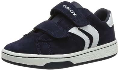 Geox Boys Jr Mania Boy A Low-Top J42G3A22C4211 Navy/White 3 UK, 36 EU