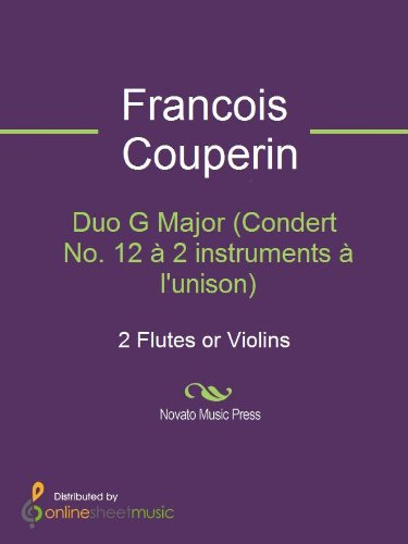 Duo G Major (Condert No. 12 à 2 instruments à l'unison) - Score (English Edition) Unison 12