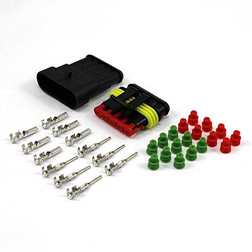 0,3 - 0,5 mm² Grün 5 - Polig AMP Superseal Set wasserdicht IP 67 1.5 0,35 0,50 0,75 1,50 2,5 1-polig 2-polig 3-polig 4-polig 5-polig 6-polig Sortiment Box Kasten Steckverbinder Elektrik KFZ Steckverbinder stecker buchse gehäuse (0,3 - 0,5 mm² Grün 5 - Polig)