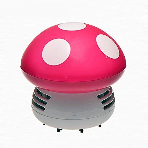 Mini Pilz Staubsauger Staubsauger Desktop Staubsauger Desktop Cleaner staubsauber von Tischstaub-Staubsauger-Kehrmaschine (Rose)