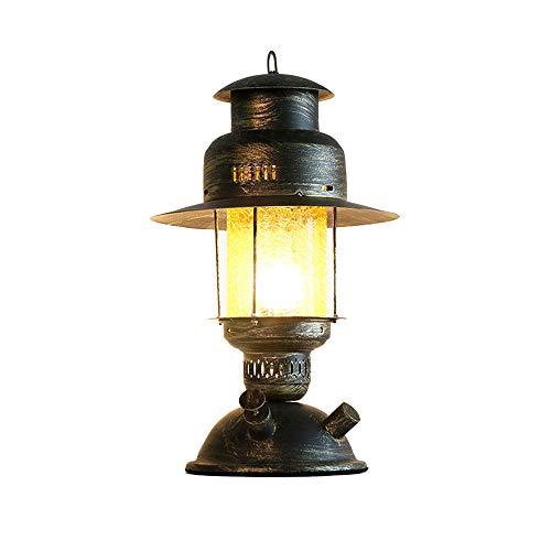 Vintage Kerosin Tischlampe Laterne Schreibtischlampen Retro Nachttischleuchte Dekoleuchten Metall Und Glas Industrielle Tischleuchte...