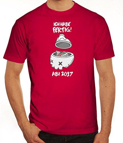 Abschluss Abitur Herren T-Shirt mit Abi 2017 - Ich habe fertig! Motiv von ShirtStreet Sorbet