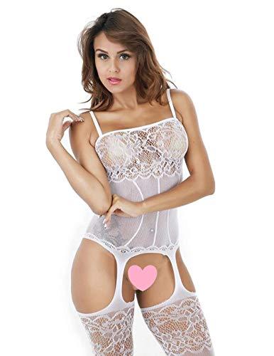 UMIPUBO Mujer Ropa de Dormir Sexy Lingerie Lace Lenceria Erotica Babydoll Ropa Interior (Blanco)