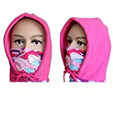 Komfortable warme radfahren kappe fahrradkappe mode outdoor-sportarten gesichtsmaske fleece winter motorrad nackenwärmer & pink &